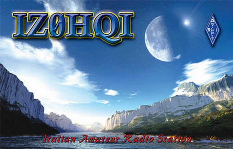 Here is IZ0HQI's QSL Card!